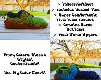 """Lambswool Uppers, Suede Leather Moccasins Bottoms, 5"""" Tall, Suede Moccasins, Moccasin Boots, Slip On Moccasins, Bohemian Moccasins, Boho"""
