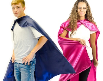Adult Superhero Cape | Dress Up Cosplay Cape - 14 Colors