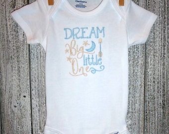 Dream Big Little One Embroidered One Piece