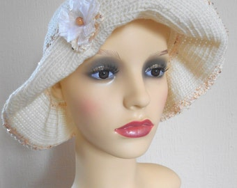 Crochet sun hat, Women's sun hat, Beach hat, Floppy sun hat with brim,Garden hat, Gift for her