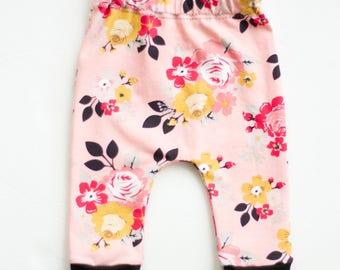 Pink Flower Burst Legging/Baby Legging