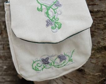Besace, escarcelle, pochette, sacoche médiévale fantastique ou elfique