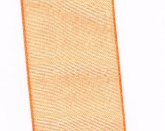 light and translucent orange chiffon Ribbon