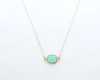 Turquoise December Birthstone Necklace, Bridesmaid Gift, Small Necklace, Bridesmaid Necklace, Bridesmaid Jewelry