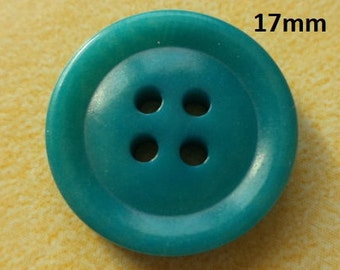 12 Turquoise Buttons 17 mm (5248) button