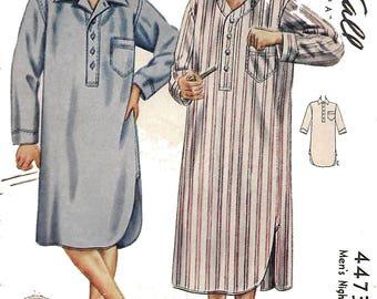 1940's Vintage Sewing Pattern Regulation Men's Nightshirt WW2 WWII  Wartime Chest 34 Rare