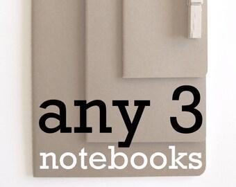 Any 3 MOLESKINE® Notebooks:  Chose any 3 notebooks;  Set of 3 Notebooks; Notebook Promotion; Special Price Notebooks;