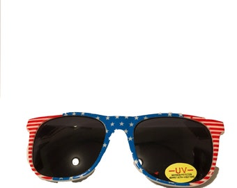 Vintage American Flag Fourth of July 90s Sunglasses DEADSTOCK