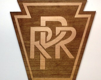 Pennsylvania Railroad Logo Wooden Fridge Magnet