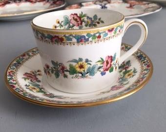 Coalport Ming Rose Cup and Saucer