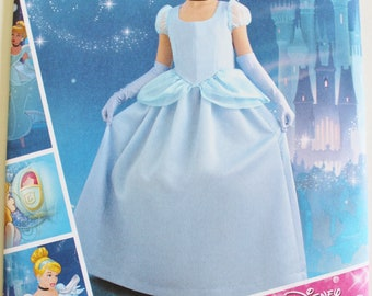 Simplicity Pattern 8490 HH Cinderella Costume Girls Size 3-6 New Uncut Factory Folded
