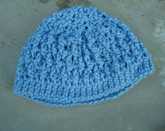 Eco Friendly Baby Boy's Crocheted Hat - Sky Blue 364