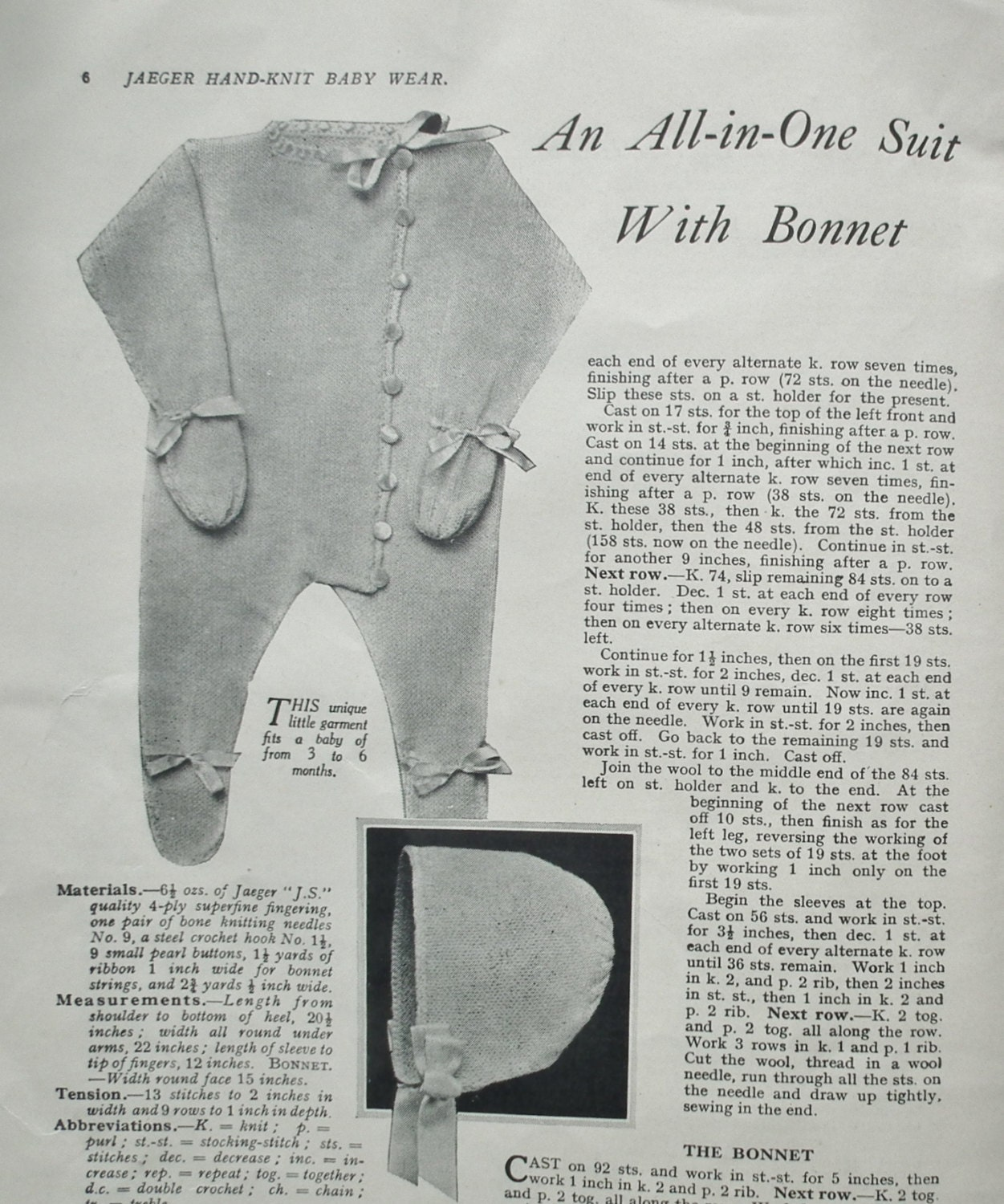 Jaeger Hand-Knit Baby Wear Mabel Lucie Attwell Vintage 1930s ...