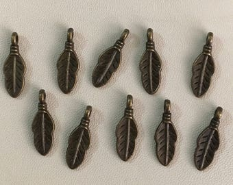 Mini feather charms