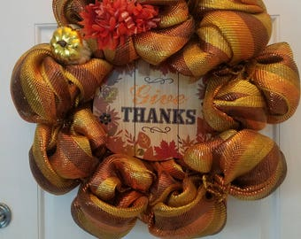 Thanksgiving Wreath, Fall Wreath, Front Door Wreath, Fall Colors
