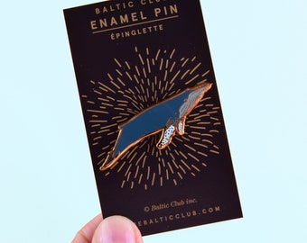 Whale Lapel Pin - Humpback Hard Enamel Pin