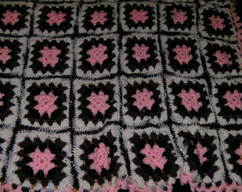 Listing 075 is a Twin size handmade afghan