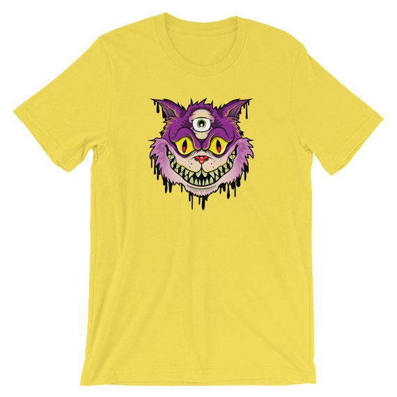 We're All Mad Here Chesire Cat Inspired Short-Sleeve Unisex T-Shirt