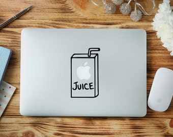 Apple Juice Macbook Decal - Apple Juice Decal - Apple Juice Vinyl - Apple Juice Sticker - Macbook Decal