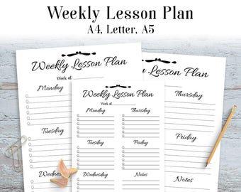 weekly assignment schedule