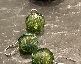 Earrings Beads 3-er set pendant murano glass 925 silver