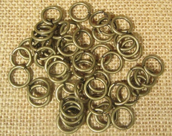 12mm Antique Brass Jump Rings - Choose Your Quantity
