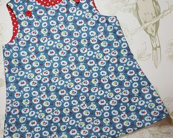 6mo, Girls Pinafore Dress, Girls Party Dress, Gift for Girls, Girls Clothing, Girls Outfit, Girls Dresses, Baby Dress, Children's Clothing