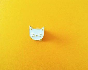 WHITE cat badges