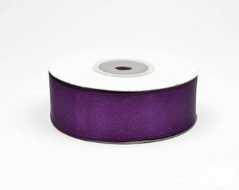 25mm - spool of 25 meters of ref 285 plum satin ribbon