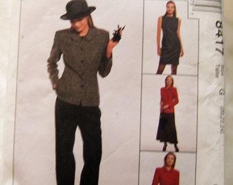 McCalls 8417 uncut size 20 - 24 womens pants suit pattern + dress