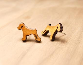 Mini Schnauzer Earrings - Schnauzer Jewerly - Dog Earrings - Dog Lover Gift - Puppy Earrings - Cute stud earrings -Schnauzer Gifts