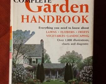 The Home Owner's Complete Garden Handbook, Vintage Gardening Handbook, 50's Garden Book, Vintage Garden Reference, Garden Decor, Garden Book