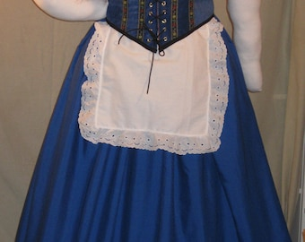 DDNJ Choose Colors Oktober Fest 5pc Corset Style Bodice Chemise Skirts Apron Plus Custom Made Your Any Size Beer Wench German Swiss Costume