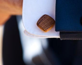 Irish Whiskey Barrel Wooden Cufflinks- Groom,Groomsmen,Summer Spring Wedding,5 year anniversary, Birthday gift,Christmas gift
