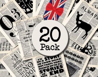 Wholesale Lot of Twenty (20) Dictionary Art Prints