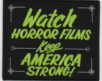 Patch Watch Horror Films Keep America Strong Bob Wilkins Creature Feature NFP036