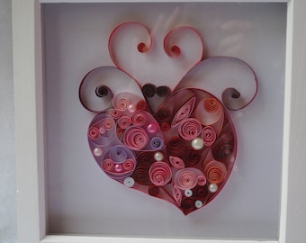 Quilled Heart, decorative heart