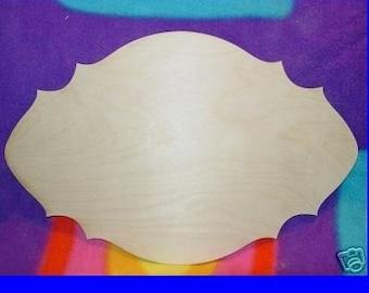UNFINISHED Wood Plaque Shape LARGE 11'' x 18''