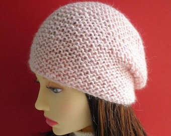 KNITTING PATTERN/ OCEAN/ Easy Slouch Toque Beanie Hat Pattern for Men, Women ,Teens/ Knit Straight