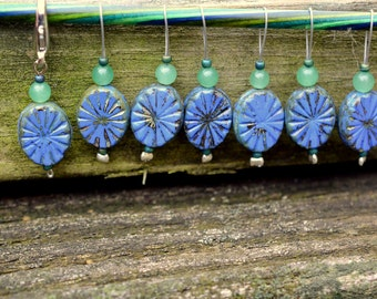 Once in a Blue Moon Knitting Stitch Markers