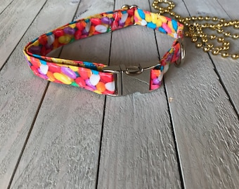 3/4 Inch Jelly Bean Candy Dog Collar/ Pet collar/Easter/ candy/jelly bean/