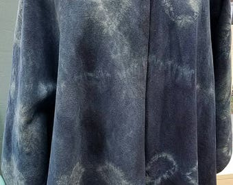 Denim Indigo-dyed Cape