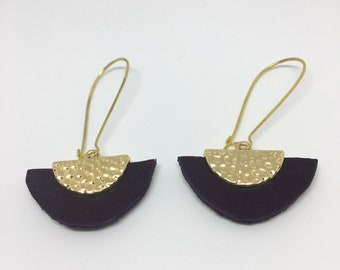 Peplum plum earrings