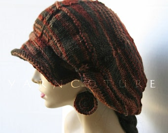 The Satin Lined Slouchy Brimmed Tam - Brimmed Slouchy Hat