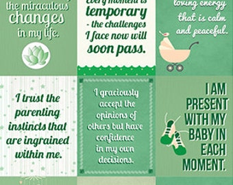 Instant download | Affirmations for mothers | Nursery decoration | GREEN