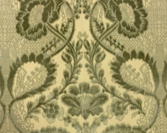 Damask - Mint - Upholstery Fabric by the Yard