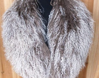 Real Mongolian Wool Collar