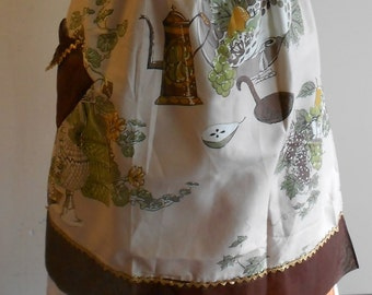 1950s coffee pot and flower apron