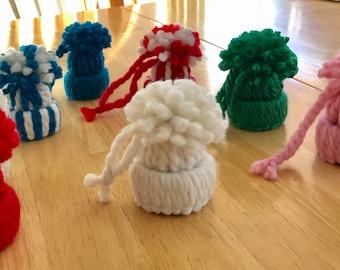 Beanie Hat Mini Ornament Bottle Topper Party Favor