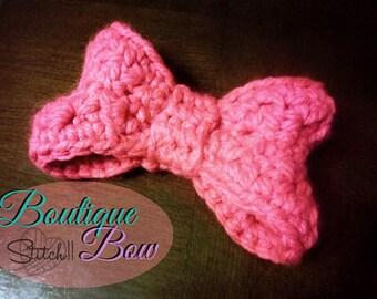Crochet Bow Pattern | Crochet Bow for Kids | Crochet Baby Bow Pattern | Bow Crochet Pattern | Newborn Bow Crochet Pattern | PDF Download